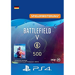 Battlefield V – Battlefield-Währung 500 – PS4 Download Code – deutsches Konto DLC | PS4 Download Code – deutsches Konto