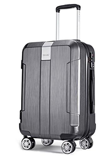 SHAIK® Serie ICEBERG, SFO Größe M Handgepäck Boardgepäck Koffer, 32 Liter TSA Schloss, (Schwarz, Handgepäck) (Hardside-laptop-tasche)