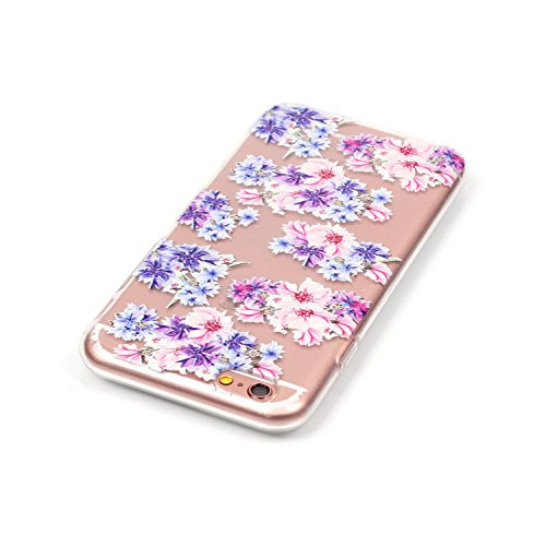 iPhone 6S Plus Hülle, iPhone 6 Plus Hülle, iPhone 6 Plus/6S Plus Silikon Schutz Handy Hülle Kratzfeste Tasche Handyhülle [Mit 1 X Frei Stylus Stift ], SainCat iPhone 6 / 6S Gel Case Weiche Bling Diama Blumen
