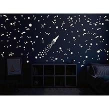 Bilderdepot24 Vinilos decorativos película luminosa de el universo - fluorescente e luminoso