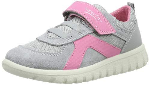 Superfit Baby Mädchen SPORT7 Mini Sneaker, Grau (Hellgrau/Rosa 25), 24 EU -