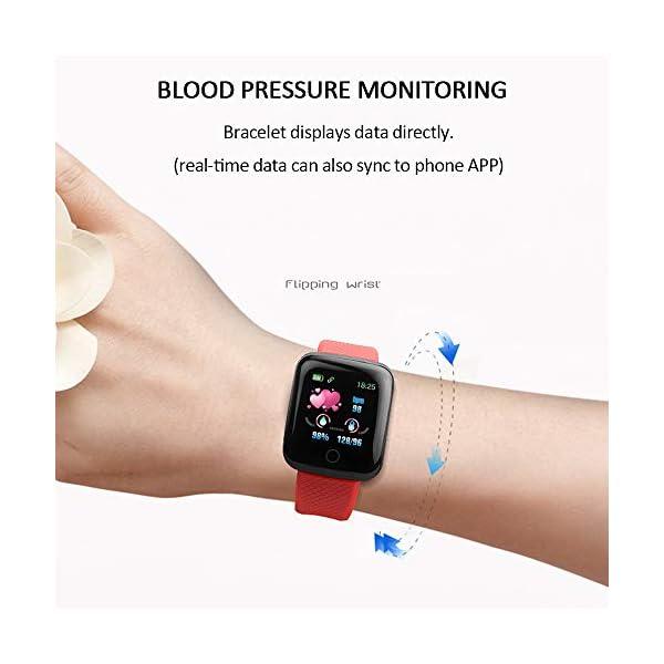 Smart Fitness Tracker Watch, IP67 Impermeable Reloj Inteligente con Contador de Pasos Monitor de sueño, podómetro Reloj para Hombres Mujeres niños 2