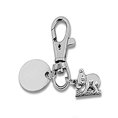 Plaque de porte personnalisée avec porte-clés Koala-PL144 avec pochette cadeau