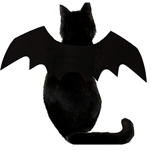 Kostüm Up Keinen Dress - Haustierkleidung Pet Fledermausflügel Kostüm für Hund, Dress Up Zubehör für Halloween Festival Geeignet für Katzen und Hunde