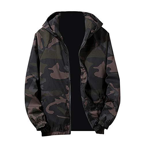 MEIbax Herren Kapuzenjacke Zip Camouflage Langarm Tasche Sport Hoodies Jacken Mantel Pullover Coats Cardigan Übergangsjacke