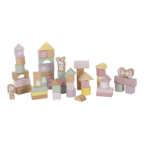 LITTLE DUTCH 4412 50 Holz-Bauklötze in Box adventure pink