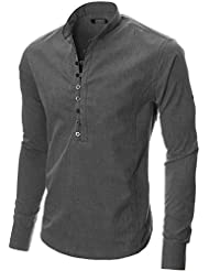 MODERNO - Manches Longues Chemise Casual - Homme (MOD1431)