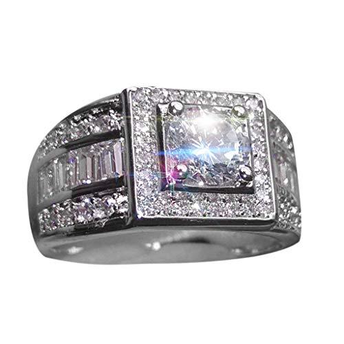 UINGKID Schmuck Damen Ring Art- und Weiseleganter geometrischer quadratischer Diamant-Zirkon- der Männer