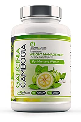 SPECIAL PROMO OFFER Garcinia Cambogia Pure Whole Fruit Weight Loss Pills x120 Capsules by Howard and James | Strong Fat Burner and Fat Blocker - Healthy Weight Loss Supplement Slimming Diet Pills | Boost Metabolism, Increase Energy and Suppress Appetite |