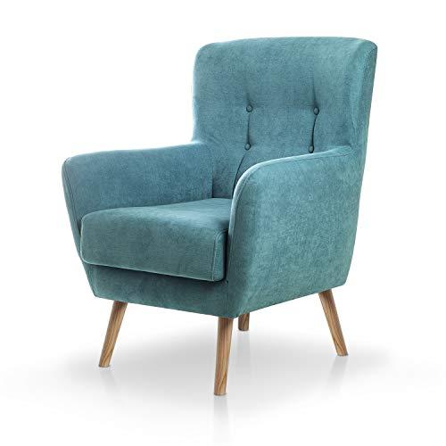 SuenosZzz- Sillon Izan butacas para Dormitorio Nórdica. Sillón tapizado Acualine Antimanchas, Color...
