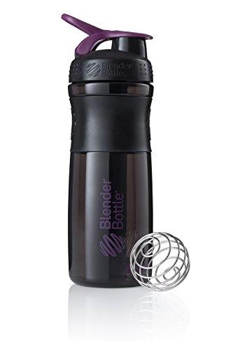 BlenderBottle Sportmixer Tritan Trinkflasche mit BlenderBall, geeignet als Protein Shaker, Eiweißshaker, Wasserflasche oder für Fitness Shakes, BPA frei, skaliert bis 760 ml, 820 ml, lila / schwarz -