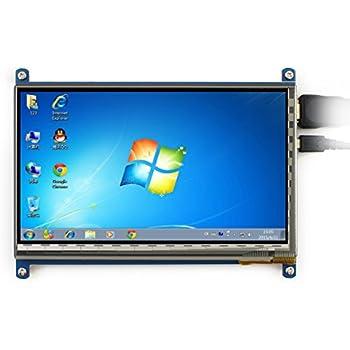 Waveshare 7 pouces écran tactile capacitif LCD HDMI 800*480 pour Raspberry Pi / BB BLACK / PC / divers systèmes / Raspberry Pi 3 Modèle B