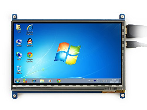 Waveshare Raspberry Pi 7 Inch Capacitive Touch Screen LCD(B) HDMI 800*480 For Raspberry Pi/BB BLACK/PC/Various Systems/Raspberry Pi 3 Model B Touch Screen