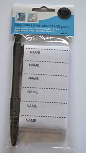 Etiketten zum Aufbügeln auf Kleidung, 50 Stück
