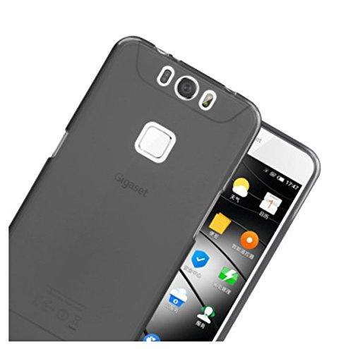 PREVOA ® 丨Transparent Silikon Hülle Cover Case Schutzhülle Tasche für Gigaset ME pro Smartphone (5,5 Zoll (13,97 cm) - (Schwarz)