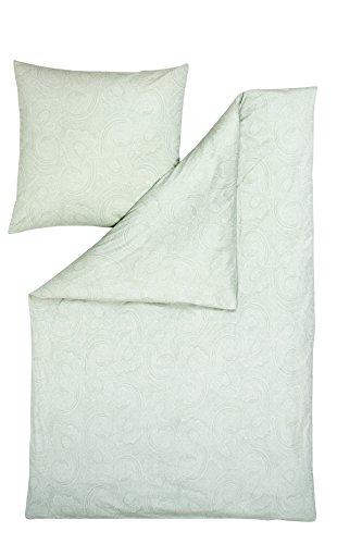 Estella Parure de lit en jersey interlock mako Abby Citron 135 x 200 cm