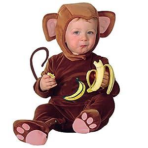 WIDMANN Mono del bebé Cutie Disfraz infantil de Animal Jungle Farm vestido de lujo