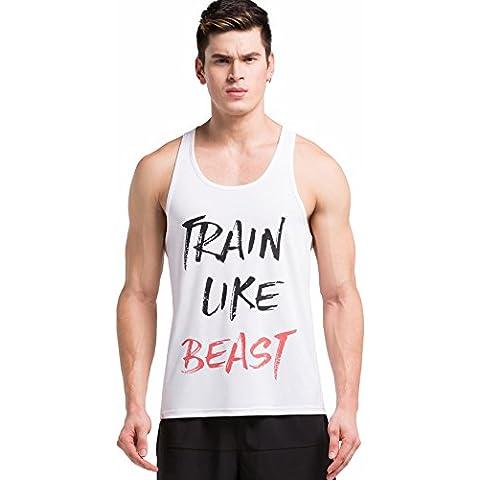 Cody Lundin maschile Moda lettera stampa in esecuzione Bodybuilding esercizio