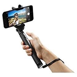 Extendable Selfie Stick|WireTelescoping Stick with 270 Adjustable Holder for iPhone & Android Devices|Handheld & Portable for Perfect Shots