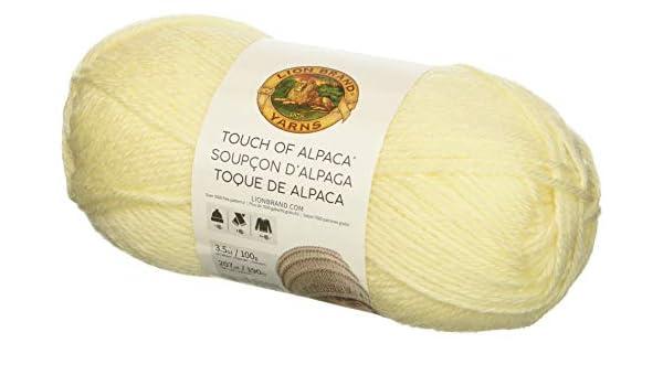 Lion Brand Yarn 674-152 Touch of Alpaca Yarn Charcoal