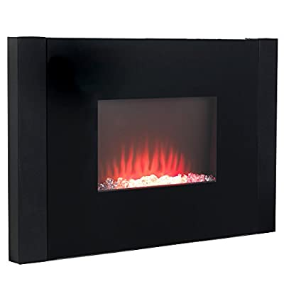 Beldray EH0815 Palma Curved Wall Fire with Log Effect - Black