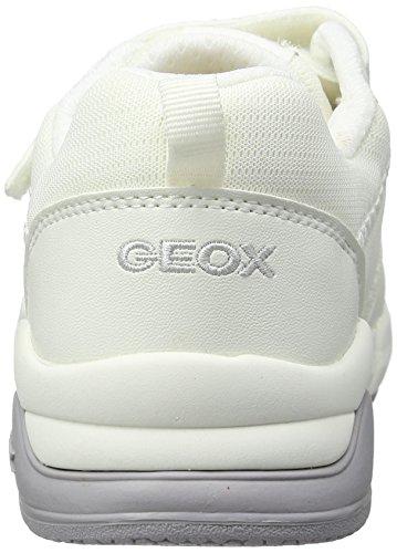 Geox Mädchen J Hideaki Girl E Low-Top Weiß (whitec1000)