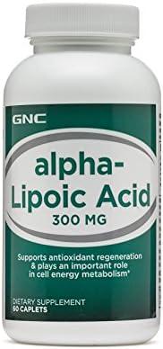 GNC Alpha Lipoic Acid 300Mg Supports Antioxidant Regeneration (60 Caplets)