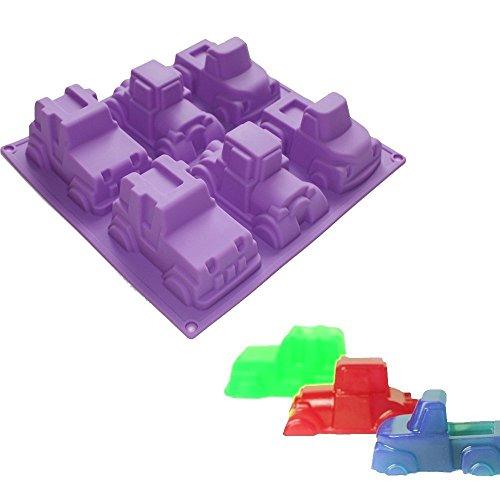 Silikon-Formen / Backformen für 6 Fahrzeuge, Jeep- Form / Auto-Form, für handgemachte Seifen, Kuchen, Muffins, Ton, Gelee