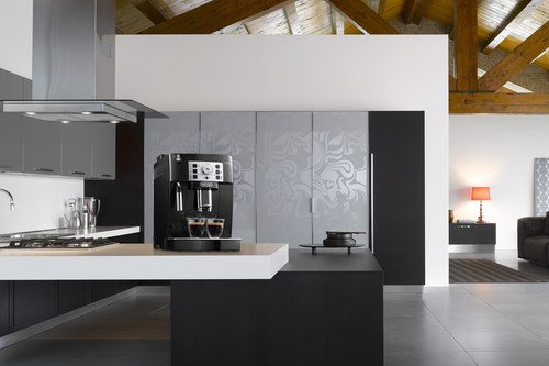 De'Longhi Magnifica S ECAM 22.110.B Kaffeevollautomat (Direktwahltasten und Drehregler, Milchaufschäumdüse, Kegelmahlwerk 13 Stufen, Herausnehmbare Brühgruppe, 2-Tassen-Funktion) schwarz - 7
