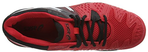 Asics Gel-resolution 6, Chaussures de Tennis Homme Rouge (Fiery Red/Black/White 2390)