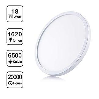 18W Plafoniera LED 6500K Rotonda Blanco Frío Interno Lampada da Soffitto Stile Moderno Ideale per Camera da Letto, Bagno, Cucina, Corridoio, Balcone, Soggiorno