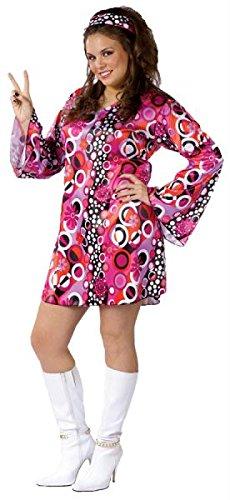 Womens Feelin Groovy Costume Plus Size Fancy Dress