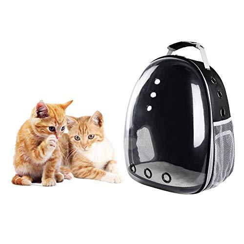 Bolsa de Transporte para Jaula de Gato Mochila portátil para Salir de Mascota Viaje Mochila para Gatos Perros cápsula Espacial Transparente