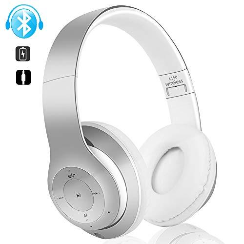 Casque Bluetooth Reduction de Bruit sur l'Oreille, Casque sans FLI avec Carte Mémoire Basses...