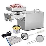IDABAY Machine Extraction Huile Pressoir à Huile Ménagère Presse Huile Électrique pour Noix Arachide Acier Inoxydable 12kg 750W(Frais de douane inclus)