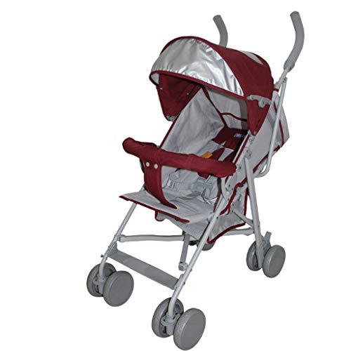 BLWX - Poussette Peut s'asseoir inclinable bébé Poussette légère et Facile à Plier Poussette élargie Parapluie Poussette (Couleur : Red)