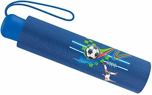 Scout Kinder Regenschirm Taschenschirm Schultaschenschirm mit Reflektorstreifen extra leicht World Cup