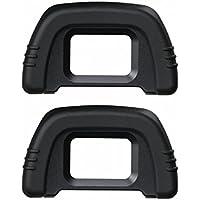 Generic [2Pack] DK-21Rubber Eyecup Eyepiece Visor para Nikon D7000D750D610D600D300D200D100D90D80D70D70s cámaras DSLR