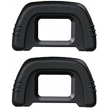 Generic (2unidades) DK-21 visor ocular de goma para cámara Nikon D7000 D750 D610 D600 D300 D200 D100 D90 D80 D70 D70s DSLR