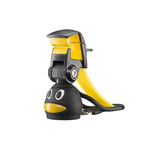 Mantona Smartphone Bottle Selfie Halter Pinguin schwarz/gelb