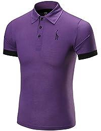 T-Shirt da Uomo,Kword Polo Uomini Camicetta Shirts da Uomo Maglietta Maglia Manica Corta Camicie Camicia Camicetta in Cotone Felpe Hoodie Uomo