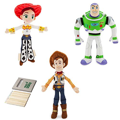 Price Toys Buzz Lightyear, Woody und Jessie Weiches Spielzeug-Puppe Set-Disney Toy Story Mini Bohne Sammlung (TS4 Buzz/Woody/Jessie)