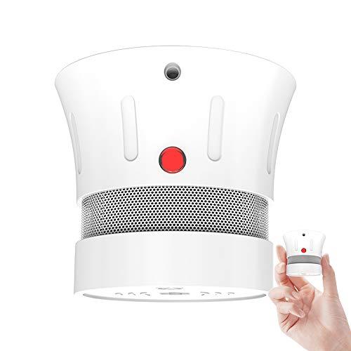Mini Rauchmelder 10 Jahre Batterie, Feuermelder, Kabelloser, EN14604 gelistet,CE-Zertifiziert, Rauchwarnmelder, Brandmelder mit Test-Knopf und Alarm bei niedrigem Batteriestand -FSD002