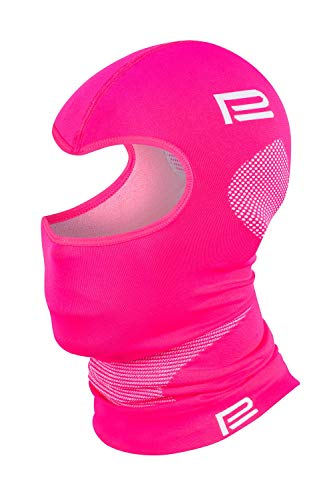 Prosske PSS Sturmhaube Thermo EXTREM 2.0 Damen Herren Kinder Skihaube Balaclava viele Farben (rosa-grau, S/M)