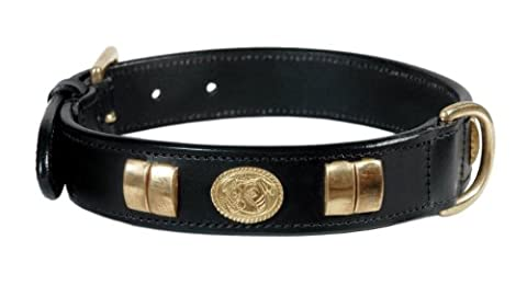 STAFFORDSHIRE BULL TERRIER LEATHER SMALL DOG COLLAR WITH DOG FACE, AVAILABLE IN BRASS FITTINGS,14