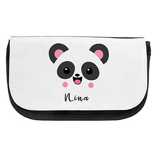 Kosmetiktasche mit Namen Nina und Panda-Motiv   Schminktasche   Viele Vornamen zur Auswahl