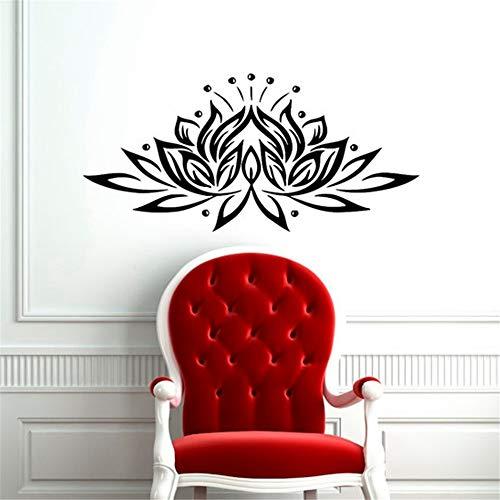 Lotus Blume Wandaufkleber, Vinyl Lotus Blume Yoga Wandkunst Aufkleber Aufkleber Versand Größe 2 78 * 40cm