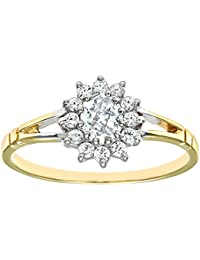 Citerna 9ct Yellow and White Gold Stone Set Cluster Ring