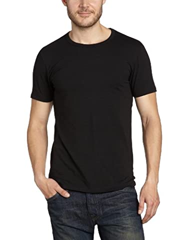 JACK & JONES Herren T-Shirt 12058529 Basic O-Neck Tee, Schwarz (BLACK C-N10), S / 48