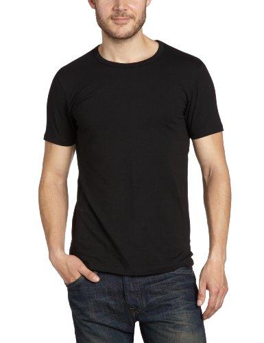 JACK & JONES Herren T-Shirt 12058529 Basic O-Neck Tee, Schwarz (BLACK C-N10), S / 48 (Schwarzes Shirt Schlichtes)